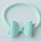 Mint Glitter bow headband, Baby hair bow, Nylon headband